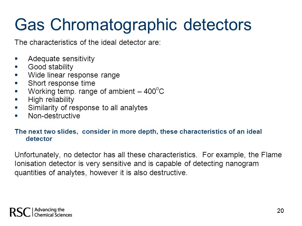 Gas Chromatographic detectors