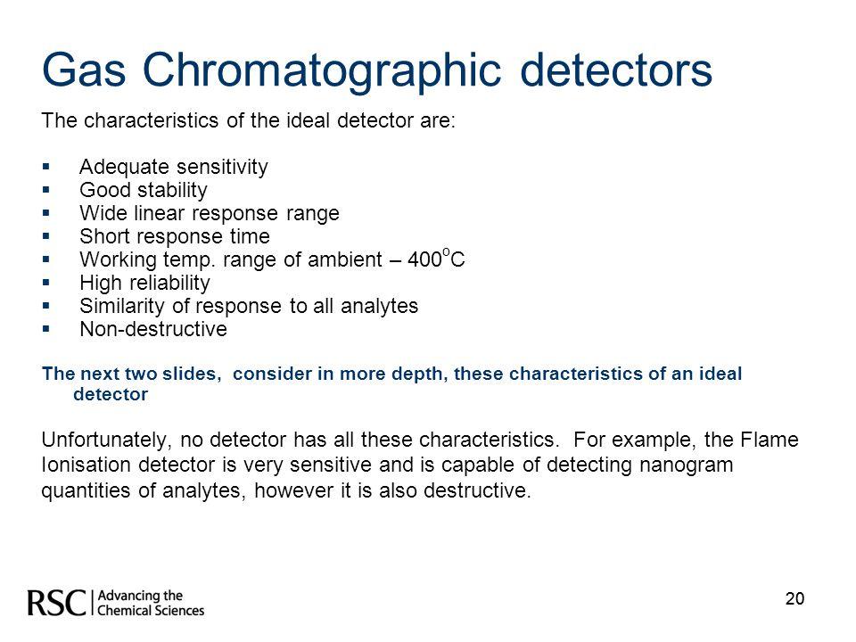 Gas Chromatographic detectors