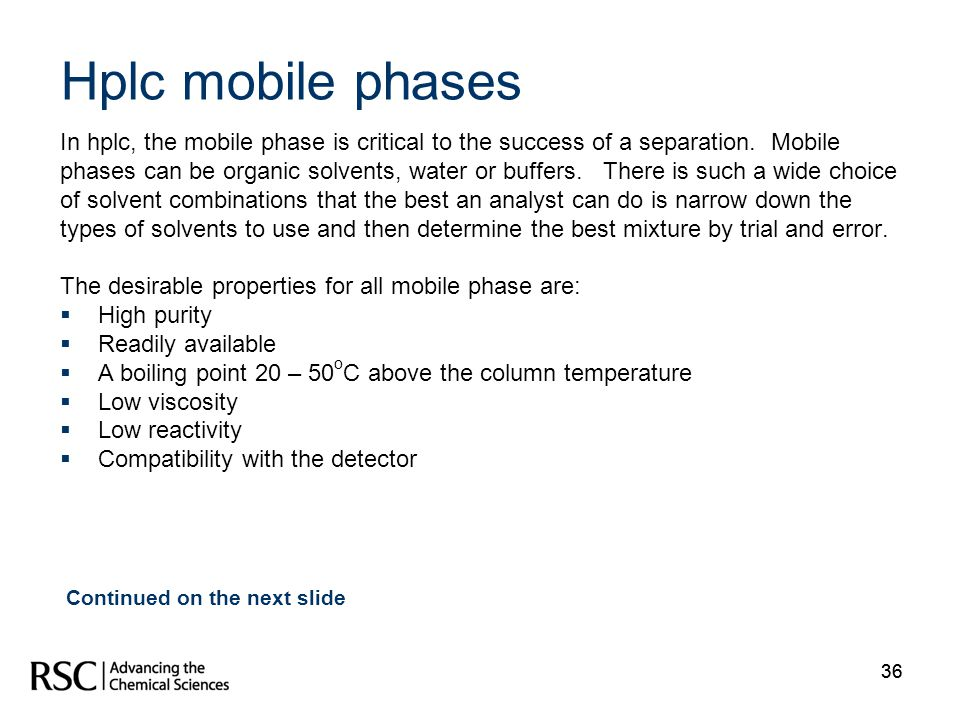 Hplc mobile phases