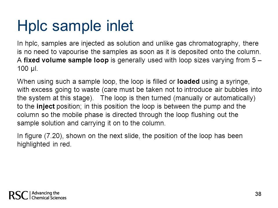 Hplc sample inlet