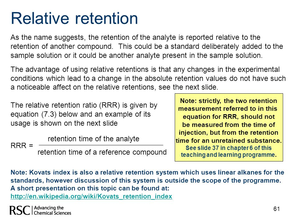 Relative retention