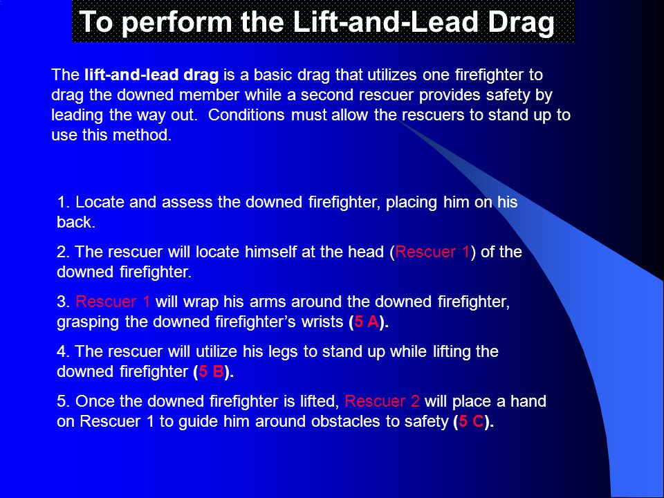 To perform the Lift-and-Lead Drag