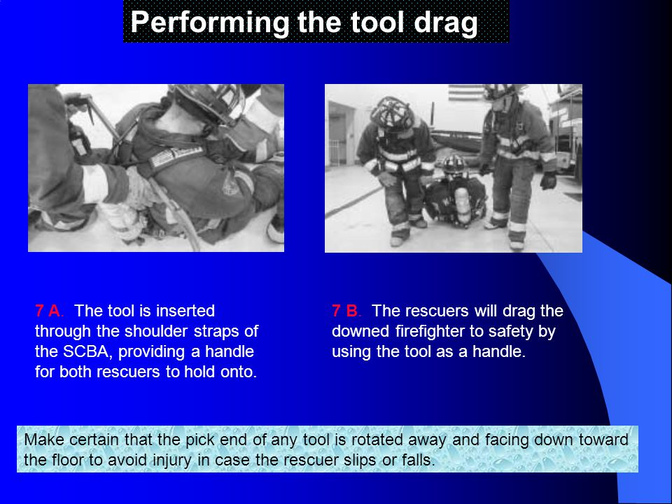 Performing the tool drag