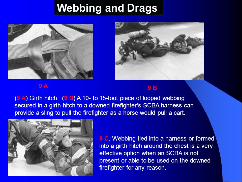 Webbing and Drags 9 A. 9 B.