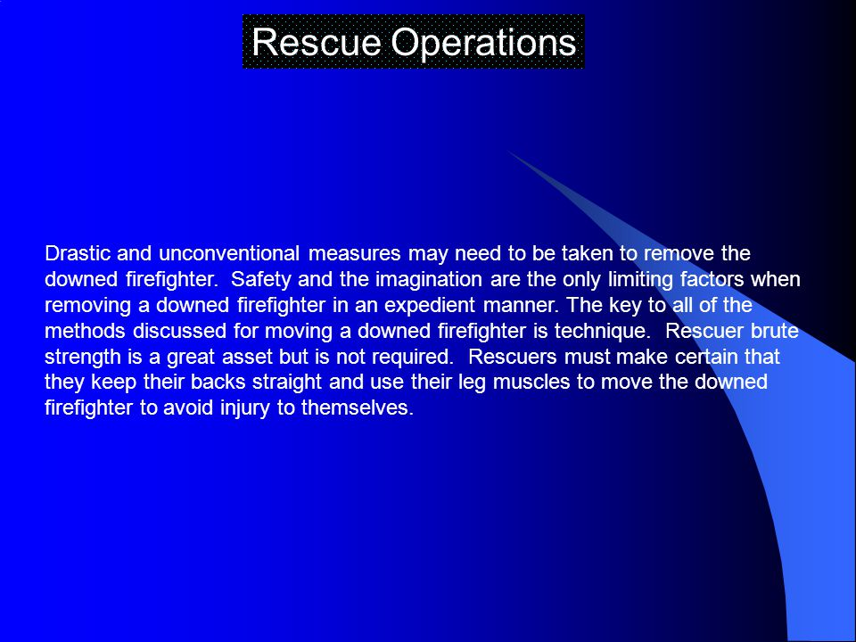 Rescue Operations