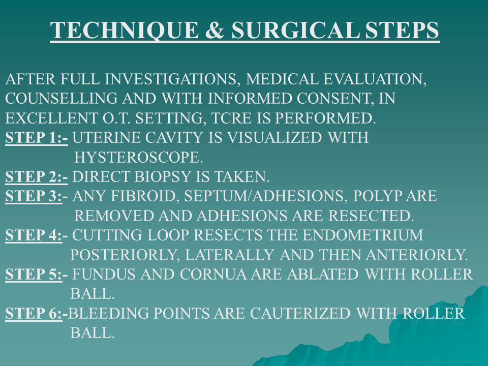 TECHNIQUE & SURGICAL STEPS