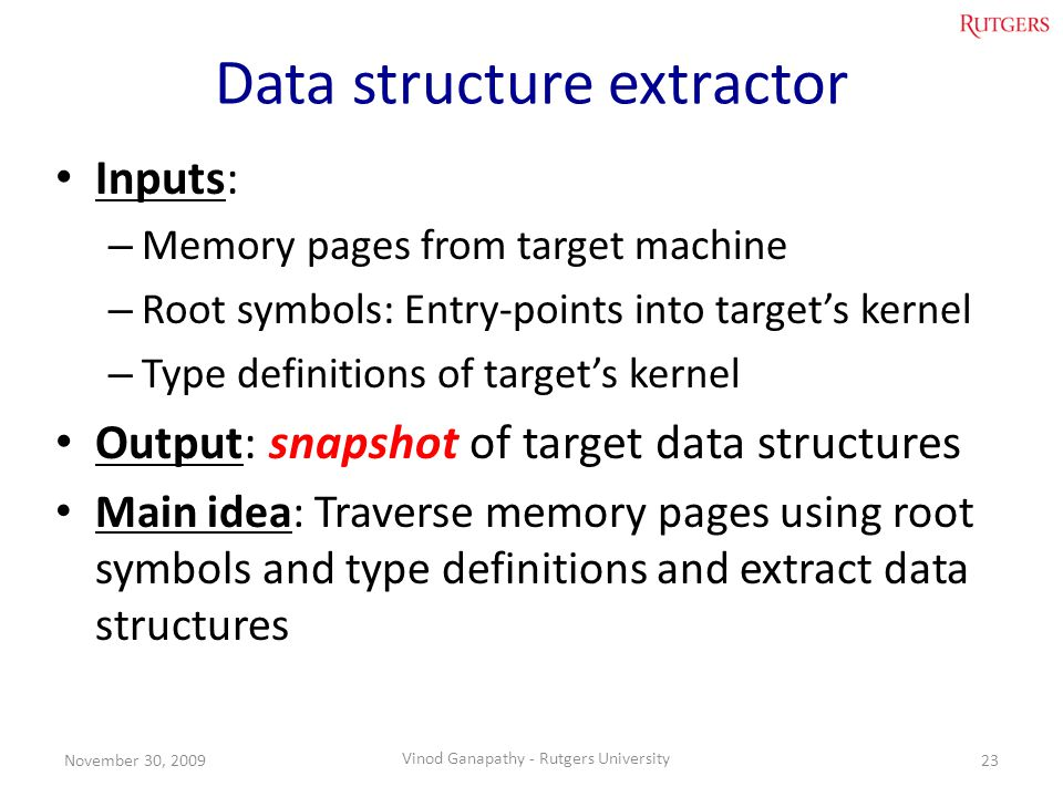 Data structure extractor