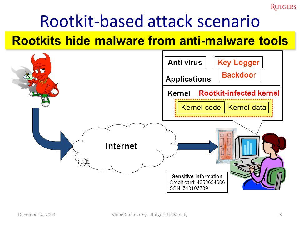 Rootkit-based attack scenario