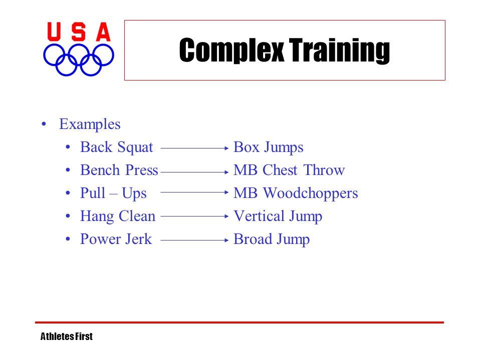 Complex Training Examples Back Squat Box Jumps