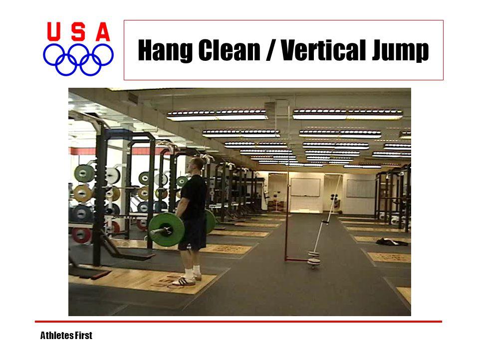 Hang Clean / Vertical Jump