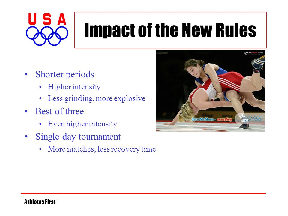 Impact of the New Rules Shorter periods Best of three