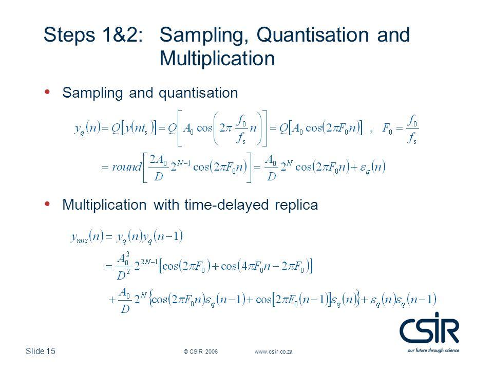 Steps 1&2: Sampling, Quantisation and Multiplication