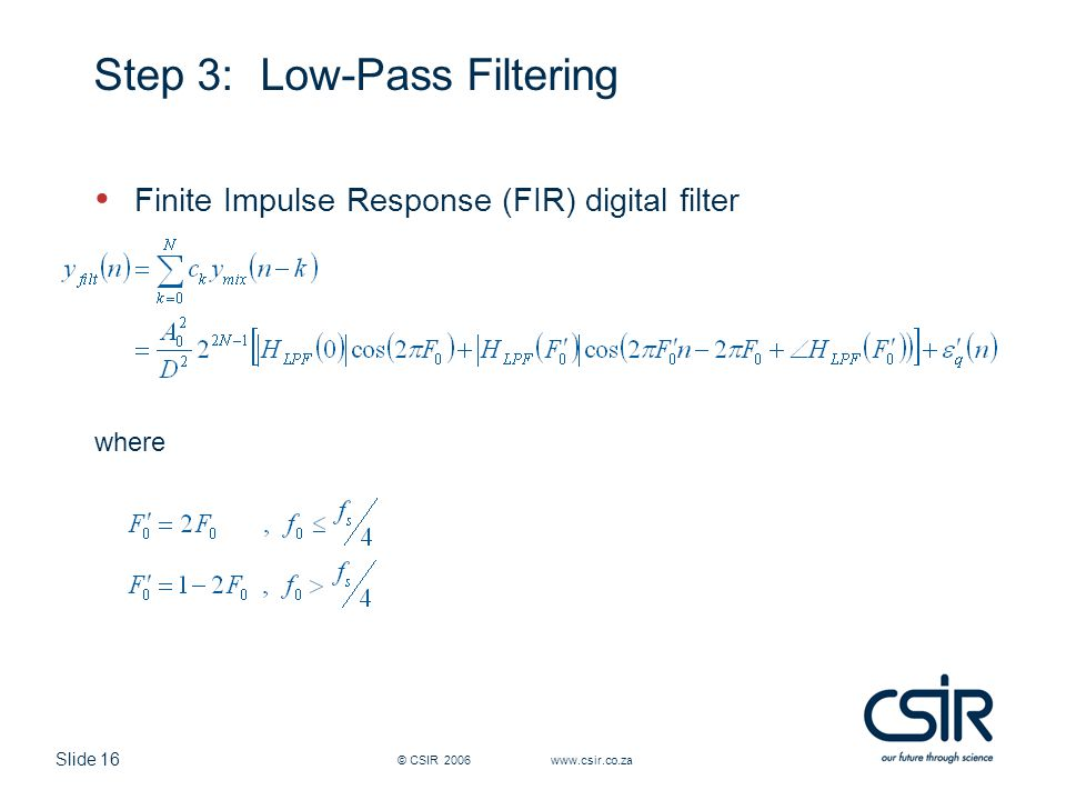 Step 3: Low-Pass Filtering