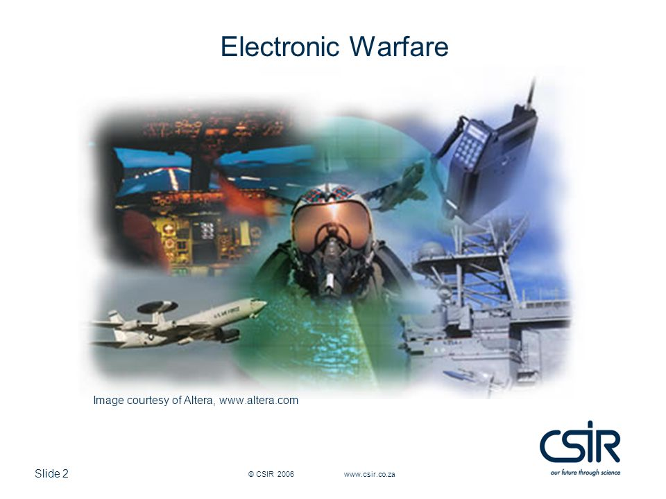 Electronic Warfare Image courtesy of Altera, www.altera.com