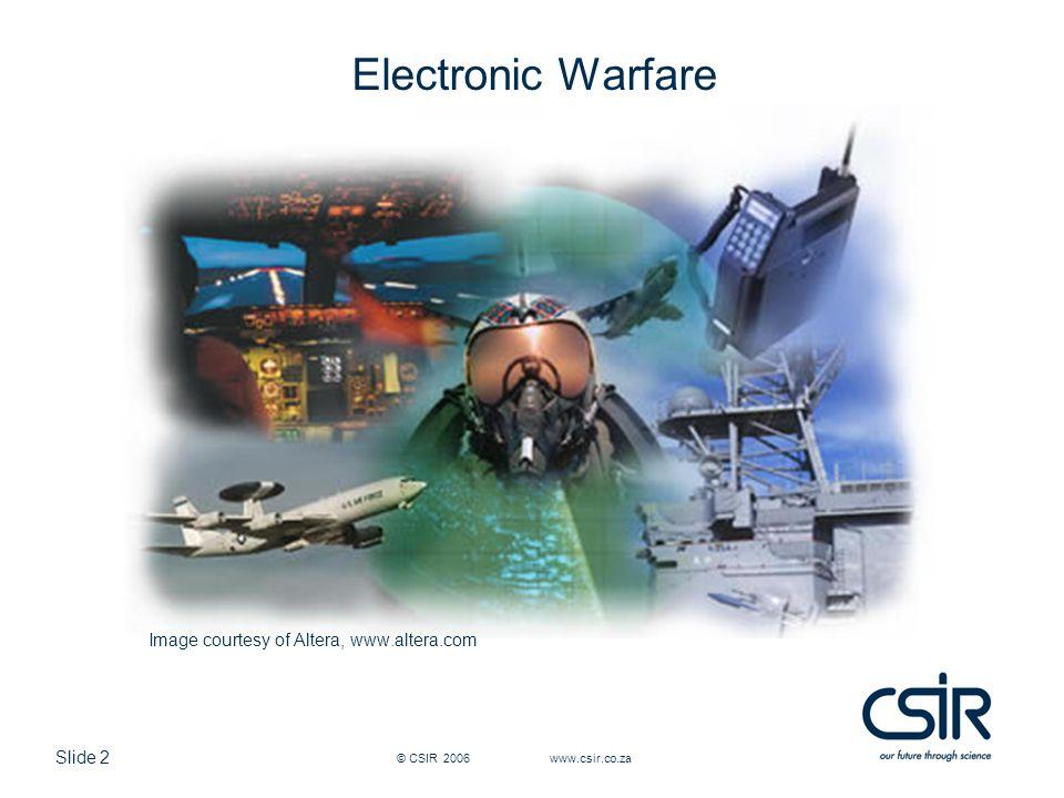 Electronic Warfare Image courtesy of Altera, www.altera.com
