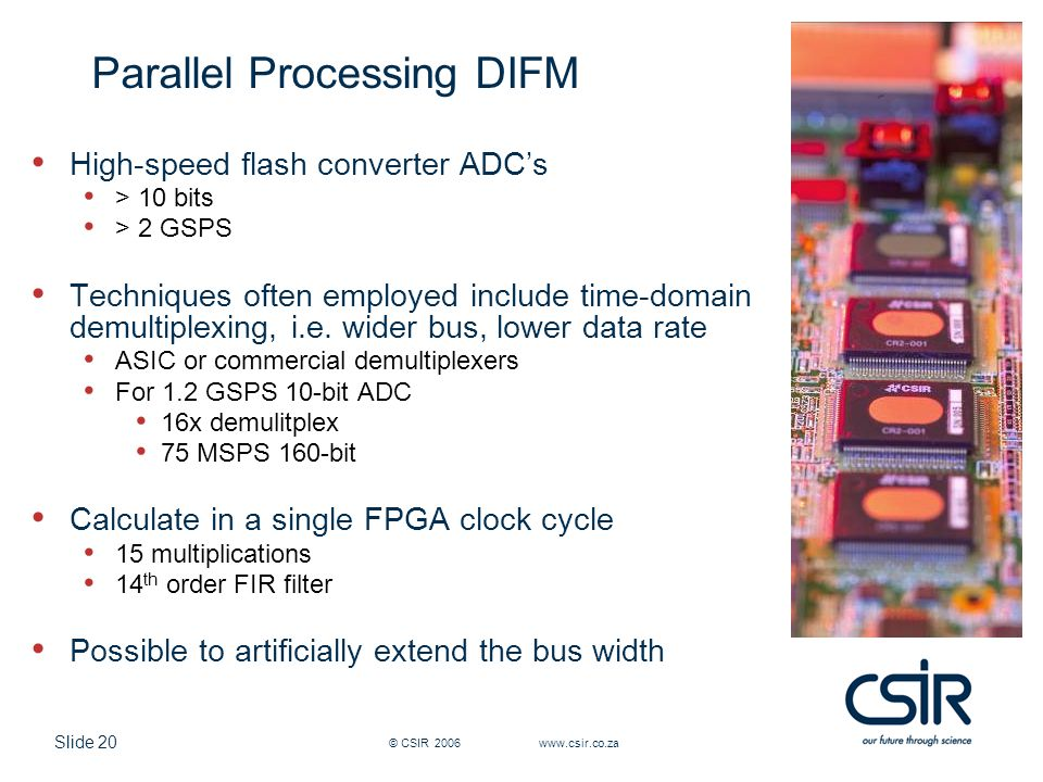 Parallel Processing DIFM
