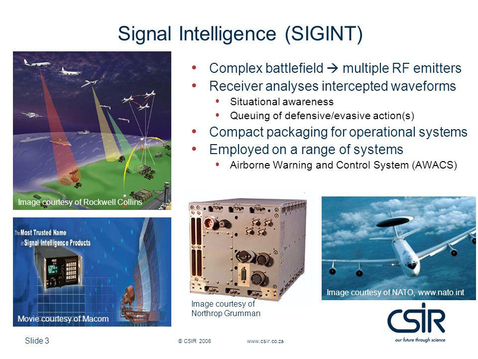 Signal Intelligence (SIGINT)