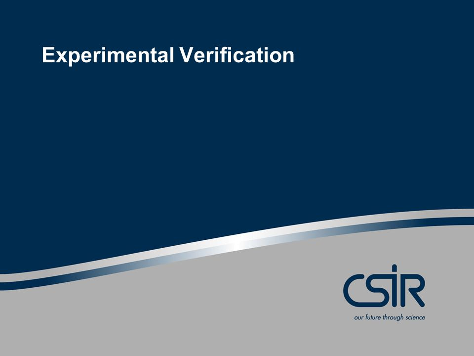 Experimental Verification