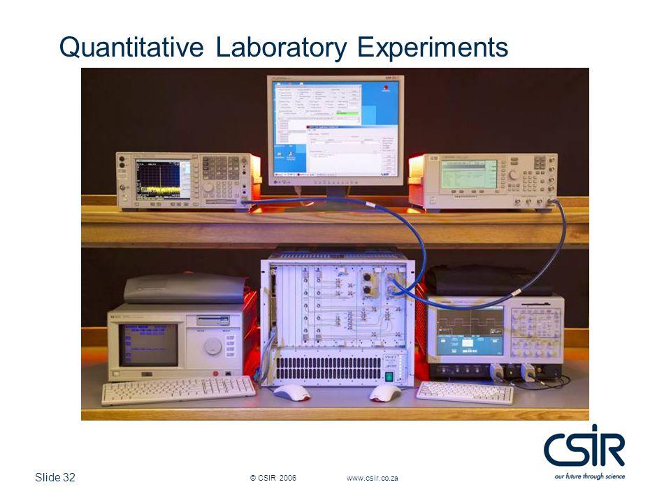 Quantitative Laboratory Experiments