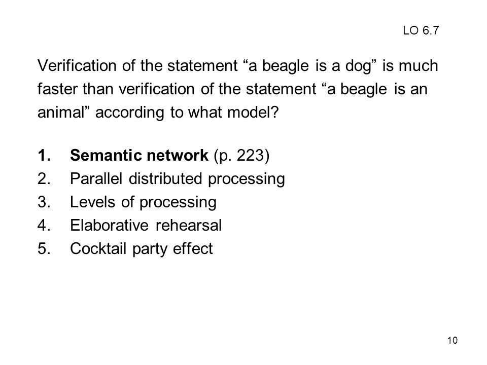 Verification of the statement a beagle is a dog is much