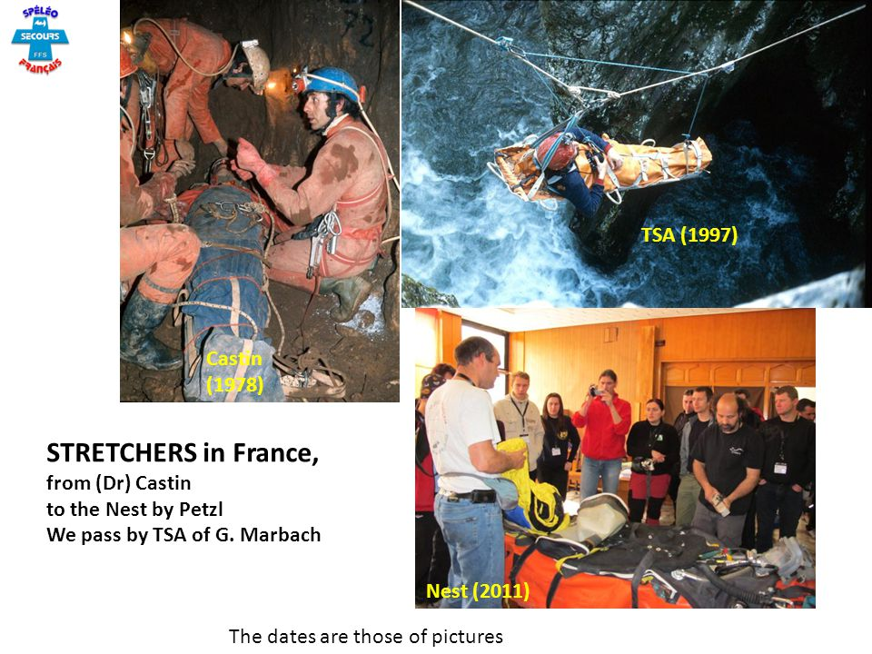 STRETCHERS in France, TSA (1997) Castin (1978) from (Dr) Castin