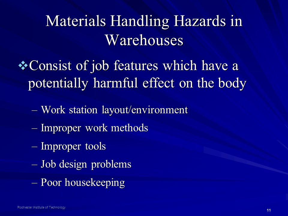 Materials Handling Hazards in Warehouses