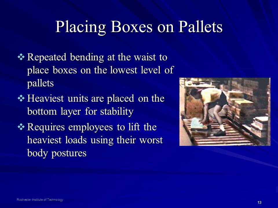 Placing Boxes on Pallets