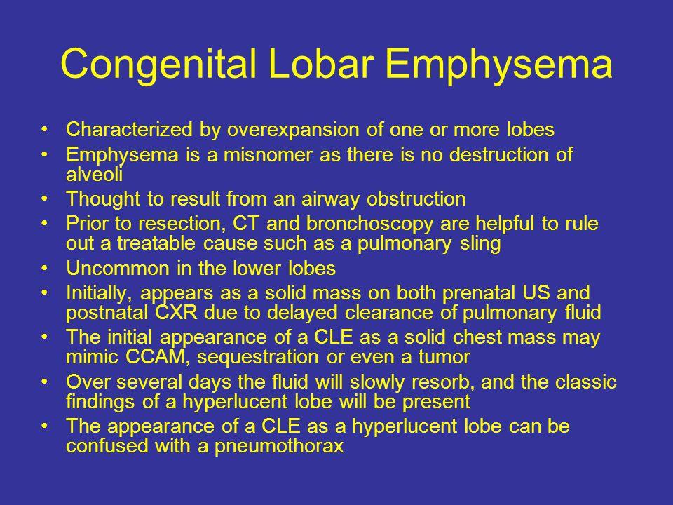 Congenital Lobar Emphysema