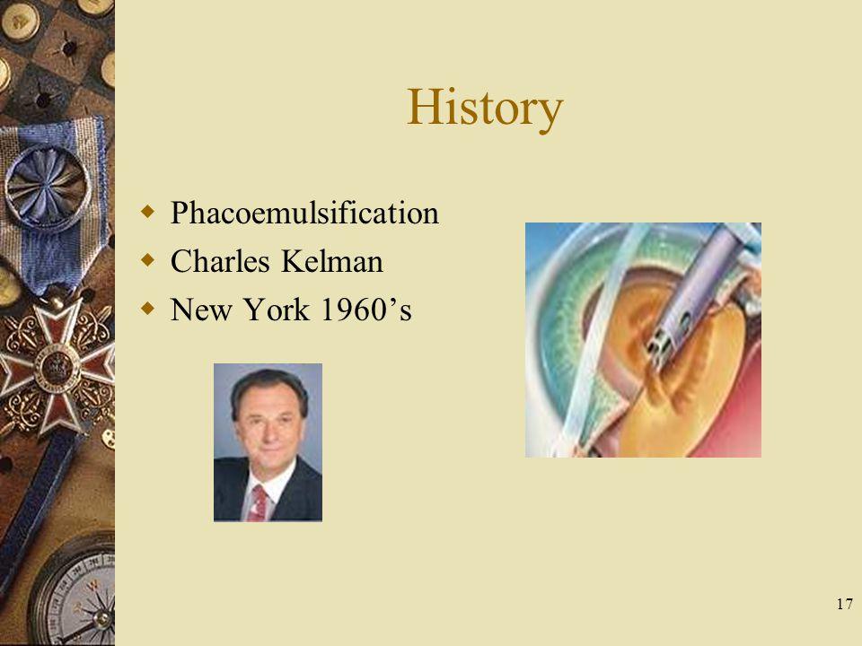 History Phacoemulsification Charles Kelman New York 1960's