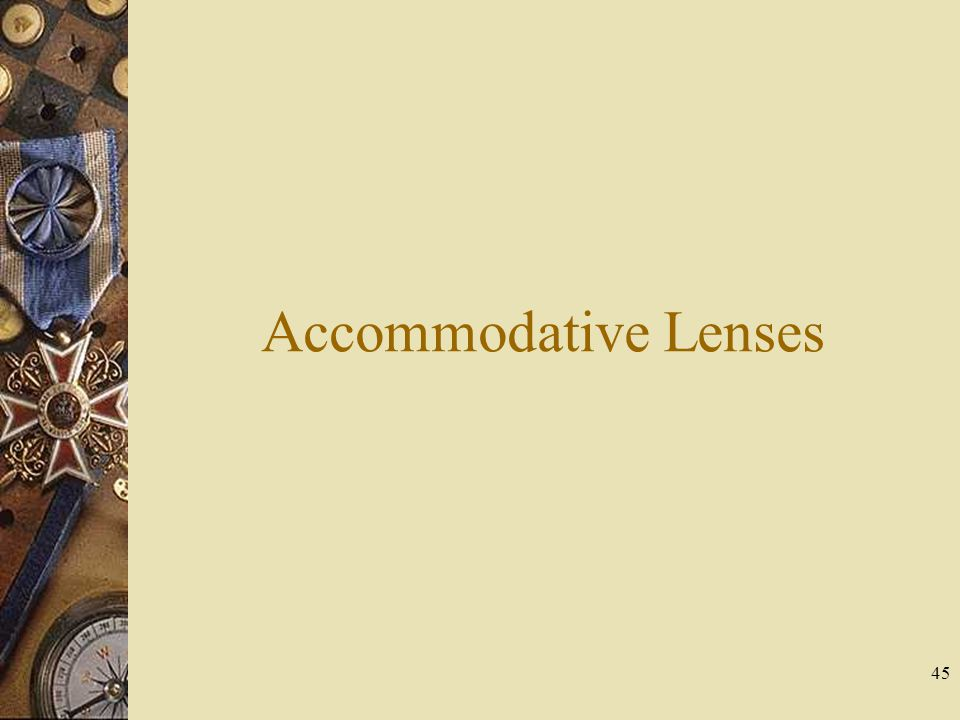 Accommodative Lenses