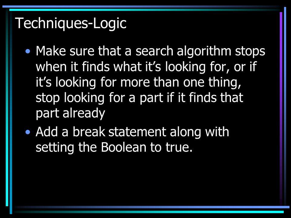 Techniques-Logic