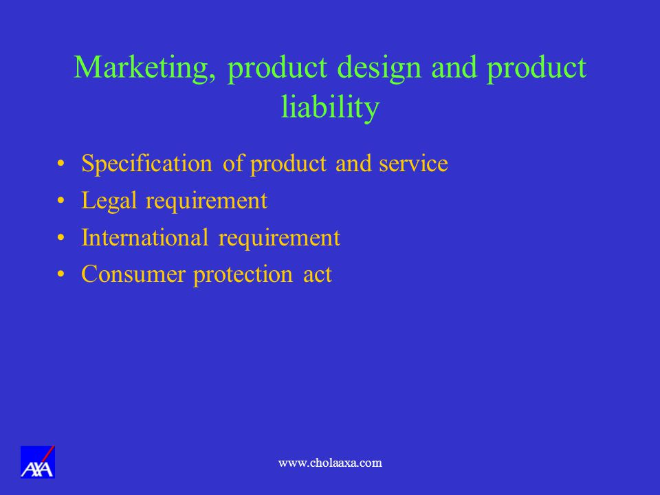 Marketing, product design and product liability
