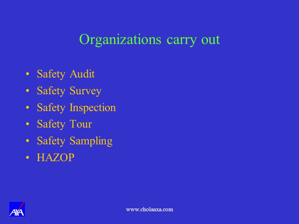 Organizations carry out