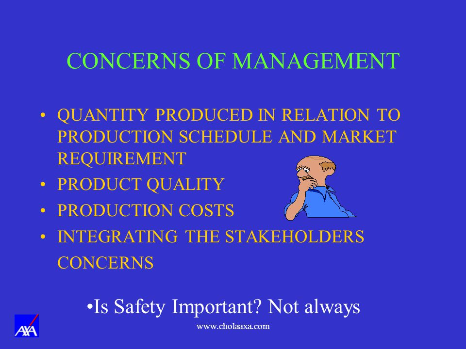 CONCERNS OF MANAGEMENT