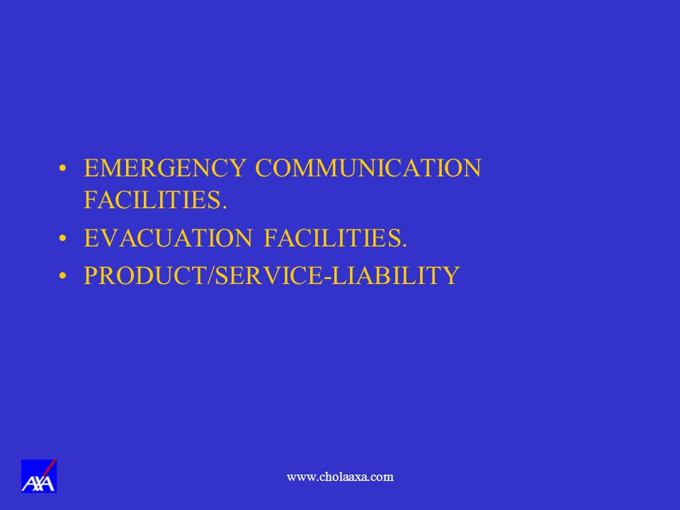 EMERGENCY COMMUNICATION FACILITIES. EVACUATION FACILITIES.
