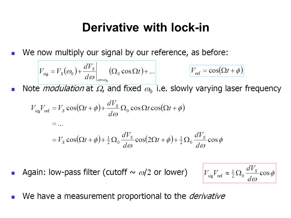 Derivative with lock-in