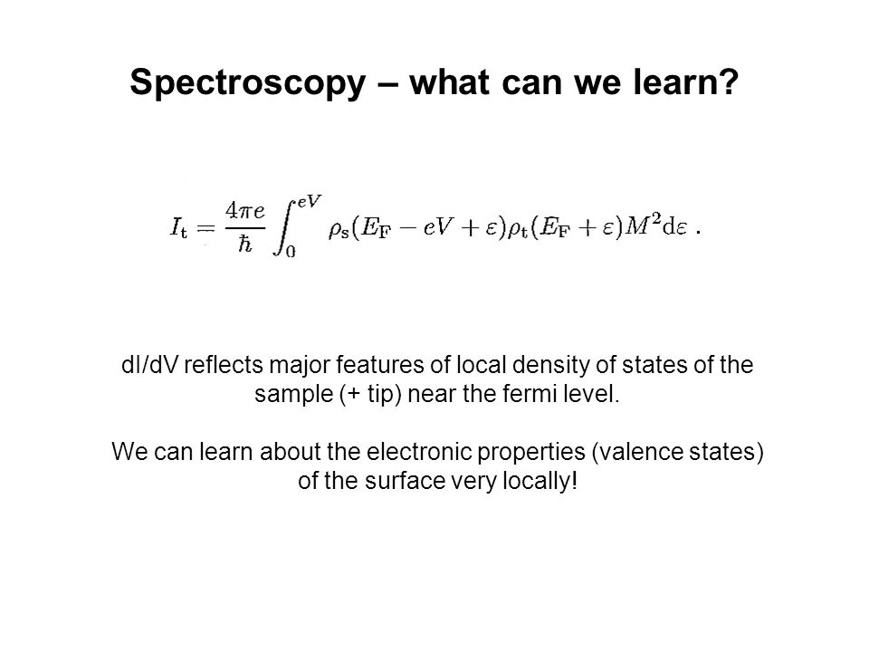 Spectroscopy – what can we learn