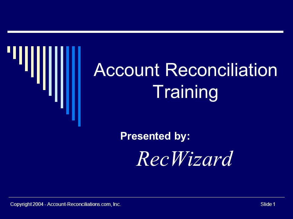 Account Reconciliation Training