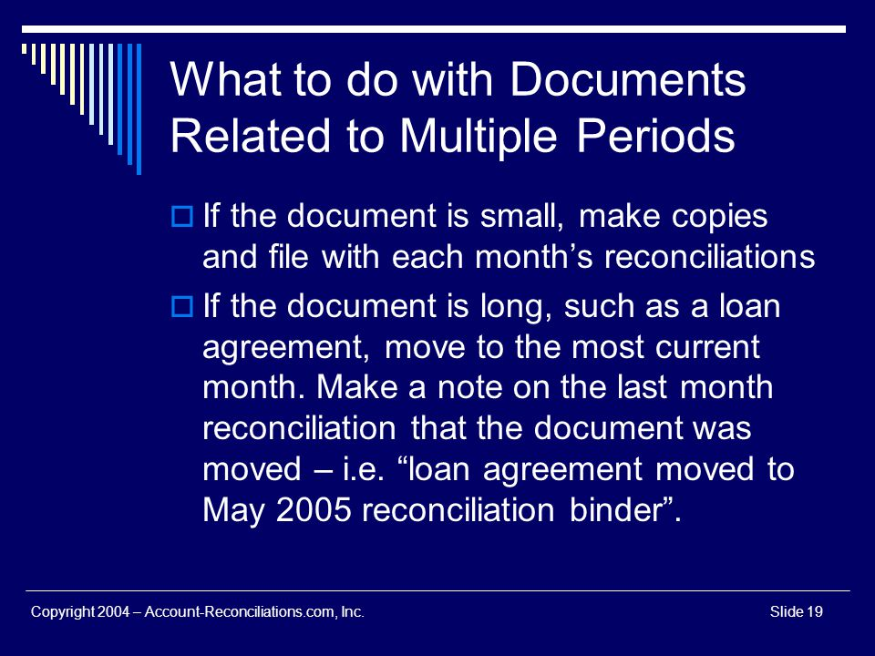 What to do with Documents Related to Multiple Periods