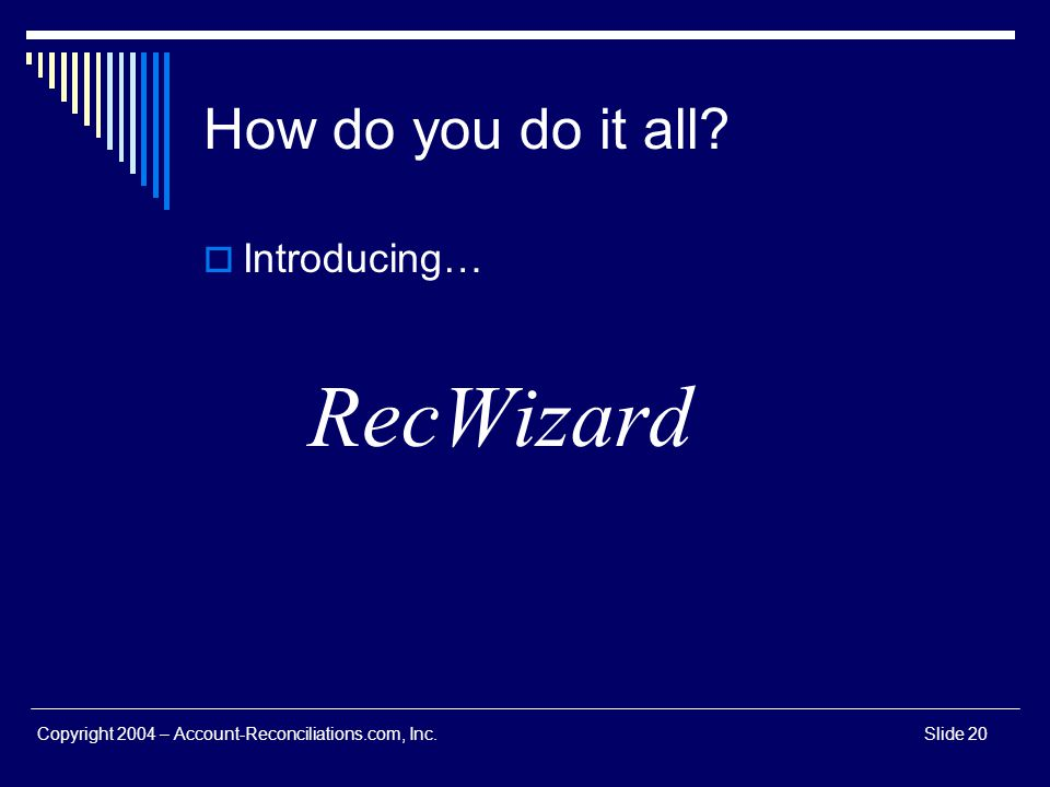 RecWizard How do you do it all Introducing…