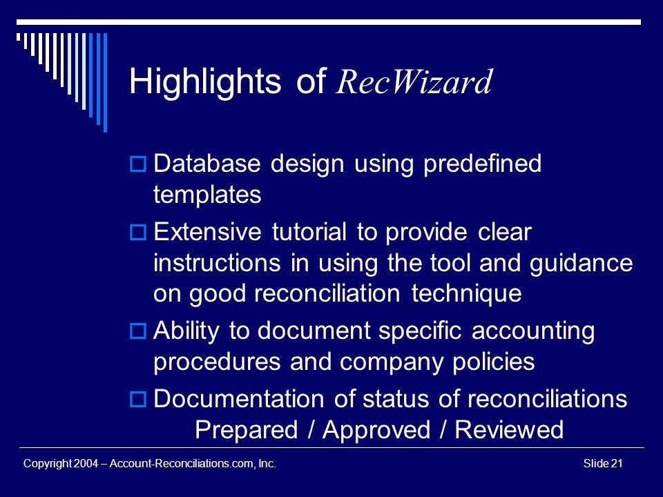 Highlights of RecWizard