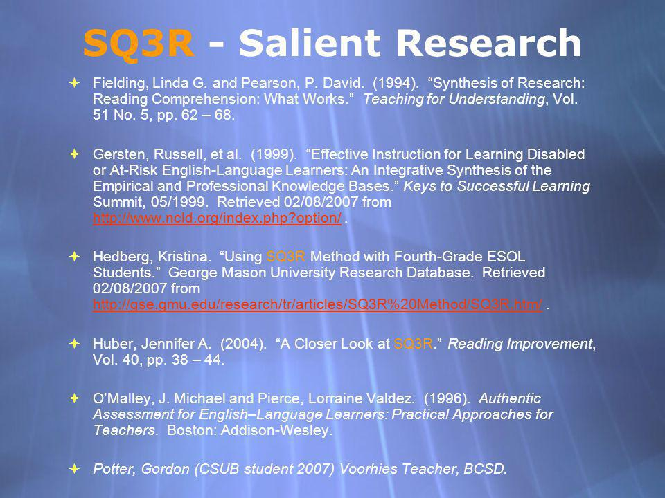 SQ3R - Salient Research