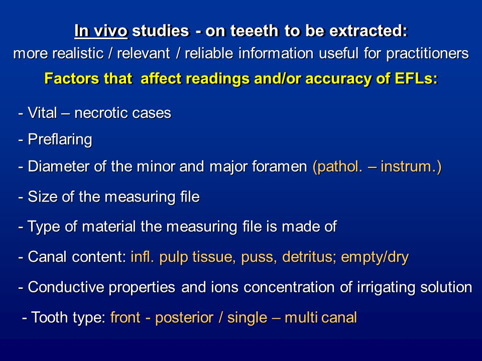 In vivo studies - on teeeth to be extracted: