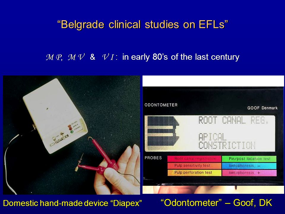 Belgrade clinical studies on EFLs