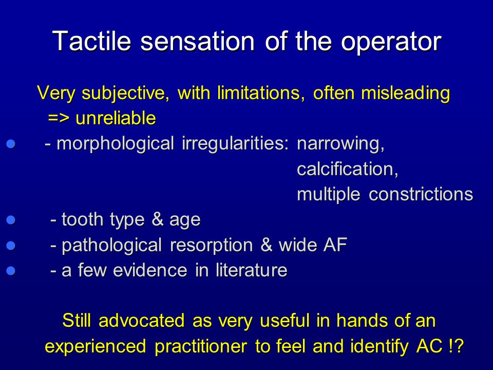 Tactile sensation of the operator