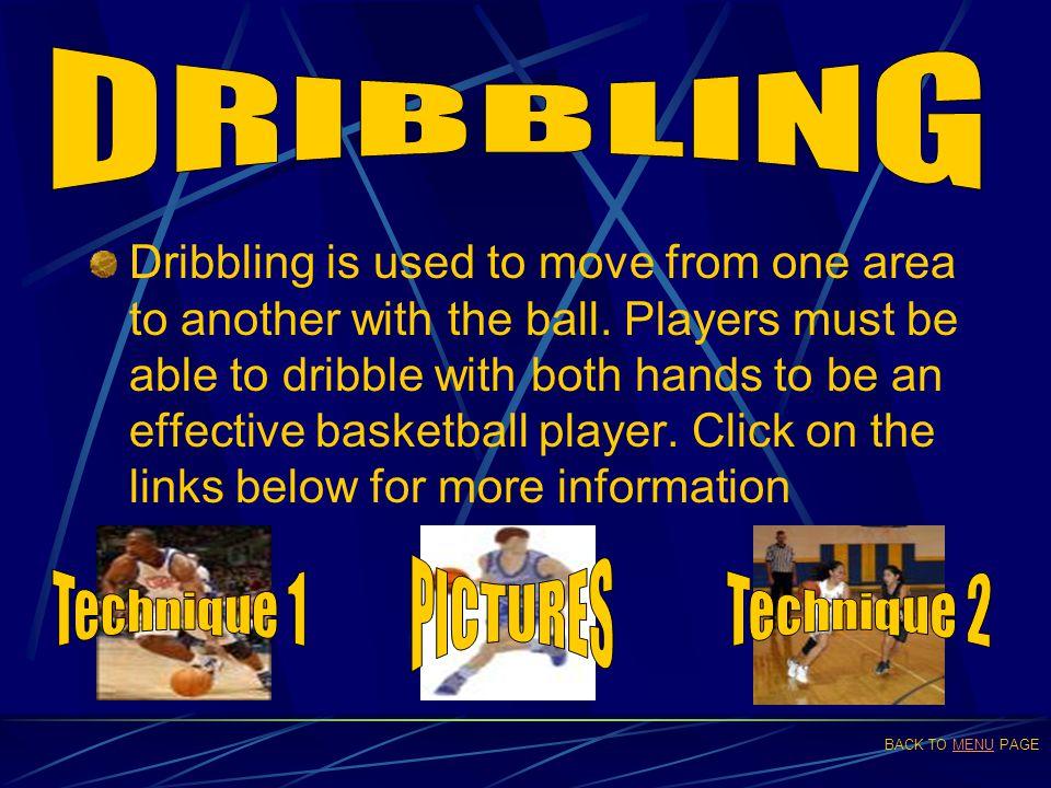 DRIBBLING PICTURES Technique 1 Technique 2
