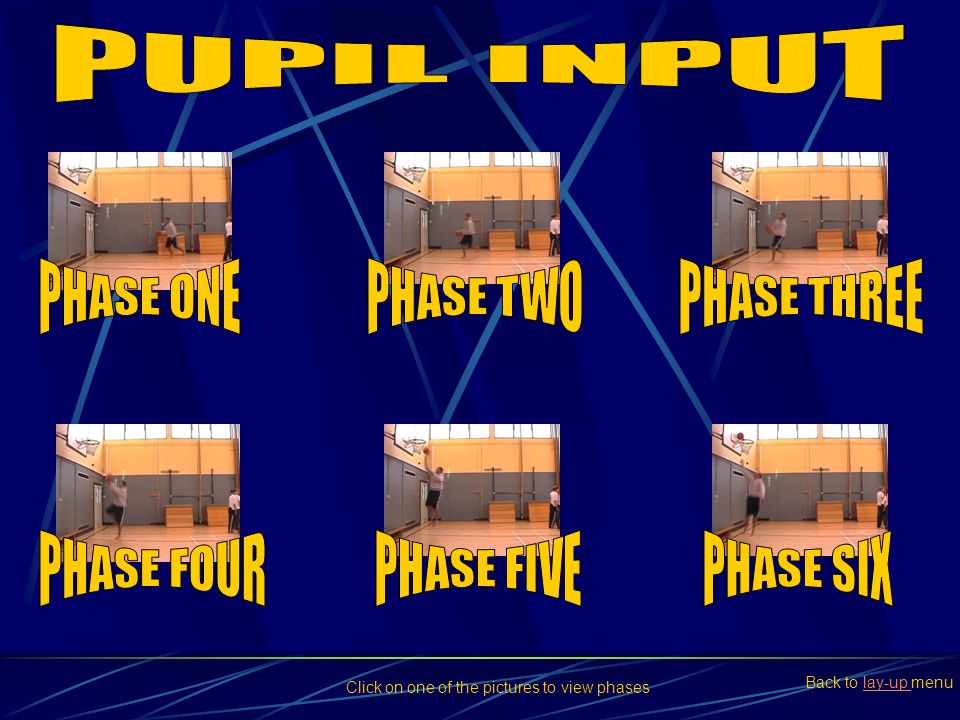 PUPIL INPUT PHASE ONE PHASE TWO PHASE THREE PHASE FOUR PHASE FIVE