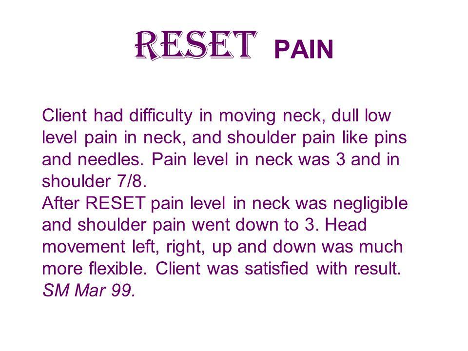 RESET PAIN