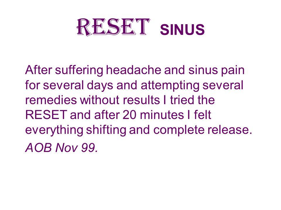 RESET SINUS