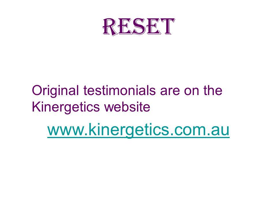 RESET www.kinergetics.com.au
